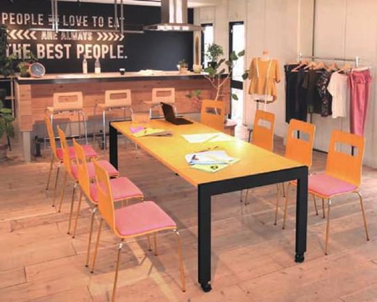 2020 新発想のダイニングミーティングテーブル エクステンションテーブル伸縮式 150 180 kkkez キャスター付きでカフェでもオフィスでも利用可能 爆買い送料無料 210cmまで伸びる