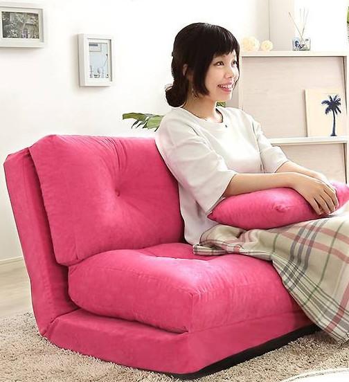 スウェード生地コンパクトソファベッド日本製 kkym