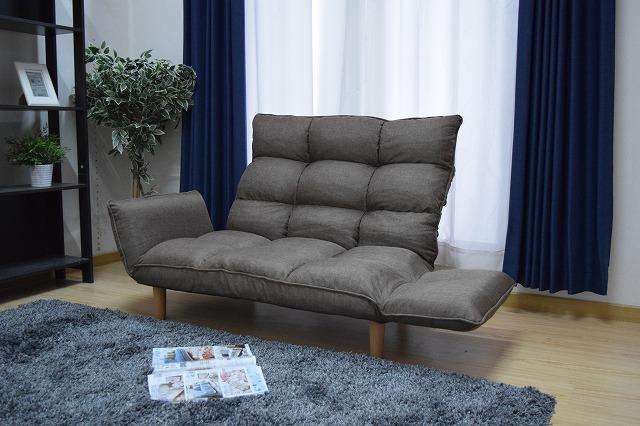 新登場 脚を外して使用することも可能 お洒落 リクライニング機能付きハイバックソファー
