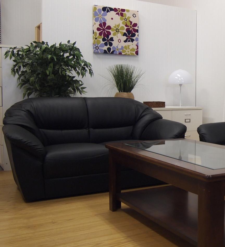 長年の定番人気商品 商談室 kkkez ふるさと割 当店一番人気 役員室の応接ソファー二人掛け合成皮革レザー貼