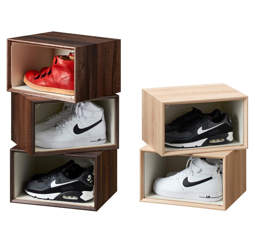 ボックス1個の値段です スニーカー収納コレクションボックススタッキング可能アクリル扉付き 毎週更新 送料0円