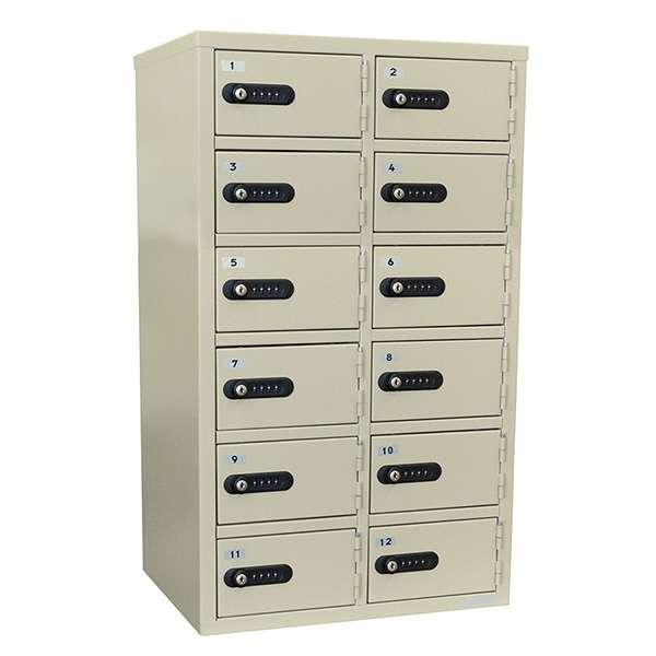 事務所店舗のバックヤードに最適設計 至上 授与 ダイヤルロック暗証番号式貴重品ロッカー金庫12人用超大型サイズ