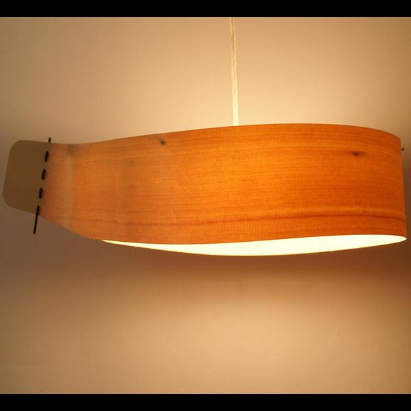 木製ペンダントライト FlamesPukaPuka(プカプカ) 60W×3灯