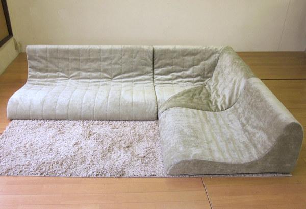 日本製 ロータイプコーナーソファー3点セット セパレート式