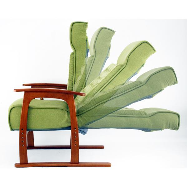 コイル式高座椅子 若葉