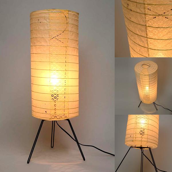 日本製和紙照明 三脚式フロアライト タイ粕×小梅ベージュ 電球付き