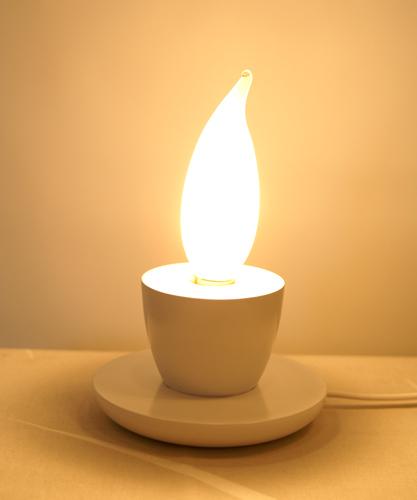 Flamesミニテーブルスタンドライト::カプチーノ【インテリア照明】:送料無料