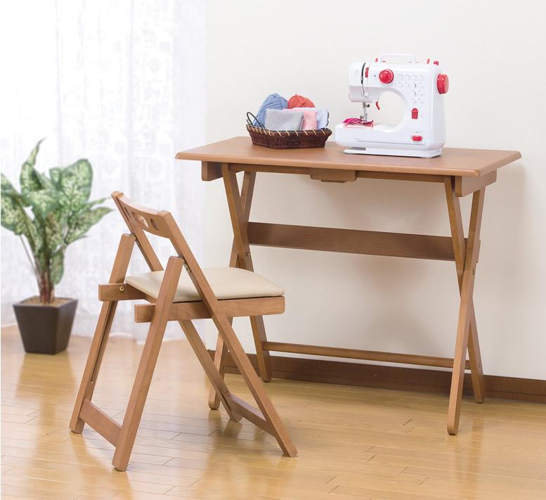 折りたたみテーブル&折り畳みチェアーのセット