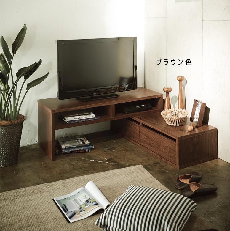 伸縮式テレビ台コーナー対応可能