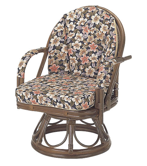 籐ラタン*回転座椅子さくら ハイタイプ:送料無料