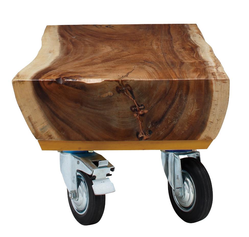 天然木(モンキーポッド)センターテーブル