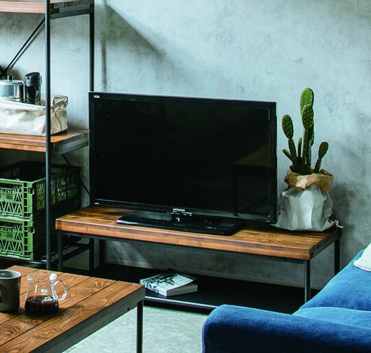 天然木パイン無垢材オイル塗装仕様ローボードテレビ台100cm幅