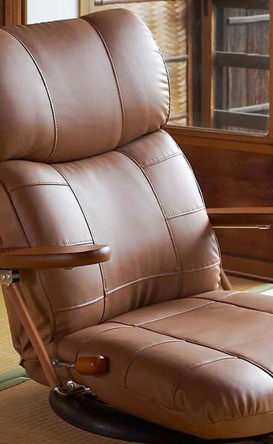 日本製の高級座いす 最新号掲載アイテム スーパーソフトレザー仕様国産座椅子 新作 大人気