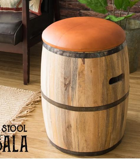 BARREL STOOL 天然木樽型スツール kkkez