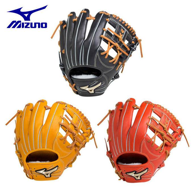 ミズノ MIZUNO 野球 硬式グラブ 内野手用 硬式用 グローバルエリート Hselection02 1AJGH18303 bb