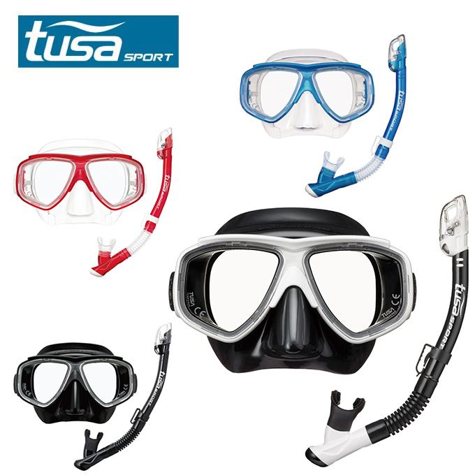 【沖縄県海水用品】ツサ スポーツ TUSA SPORT シュノーケリングセット メンズ レディース ツイン UC7525