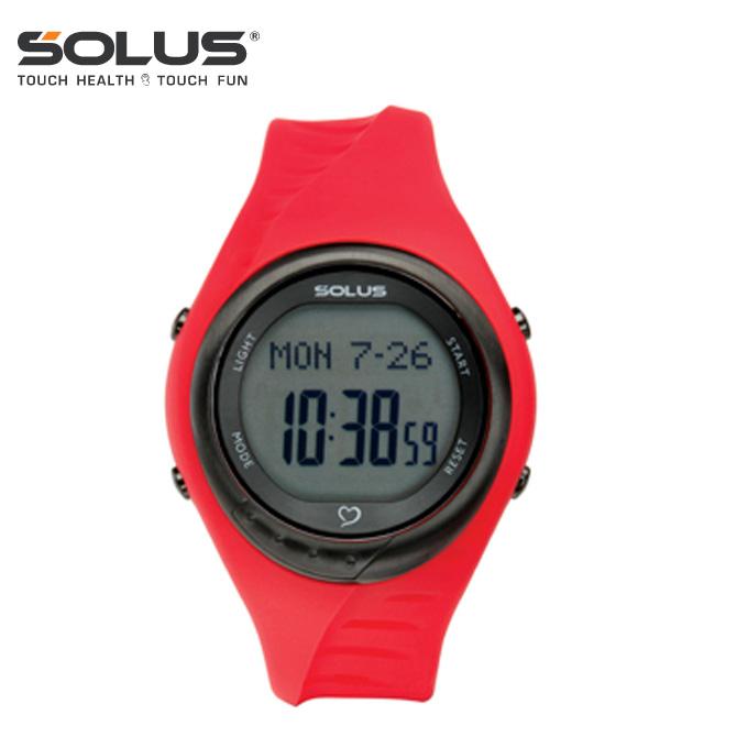 【沖縄県内(離島含)3,300円以上購入で送料無料】ソーラス(SOLUS) ランニング 腕時計(メンズ・レディース) チームスポーツ300(RD) 01-300-04