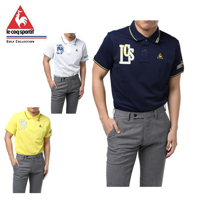ルコック le coq sportif ゴルフウェア ポロシャツ 半袖 メンズ オーガニックコットン QGMLJA02