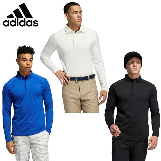 【沖縄県内(離島含)3,300円以上送料無料】アディダス ゴルフウェア 長袖シャツ メンズ ブラッシュドワッフルBD長袖シャツ INS65 adidas