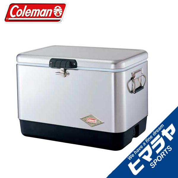 コールマン(Coleman) クーラーボックス 54QT スチールベルト クーラー シルバー 3000001343 coleman rkt