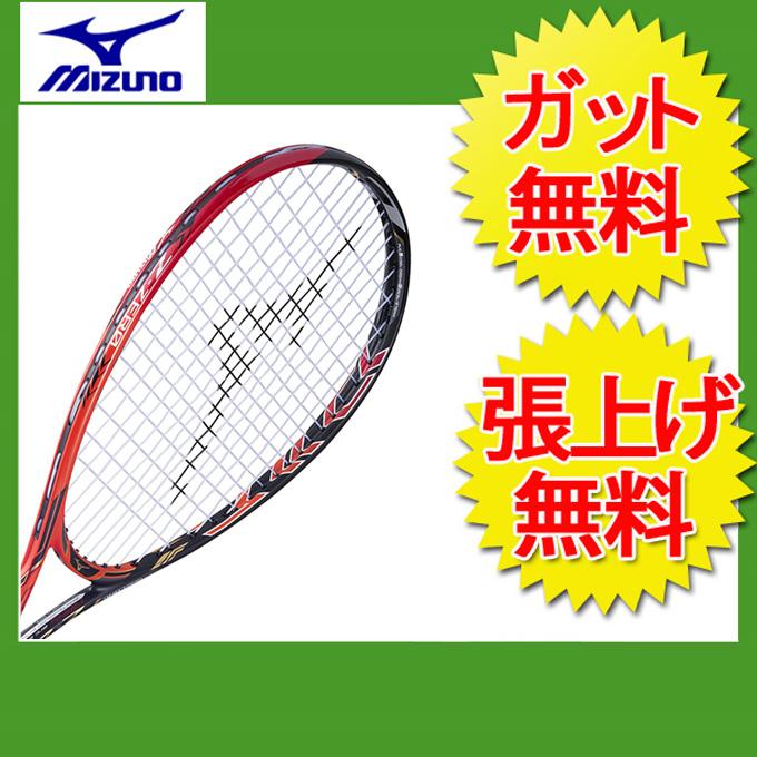 ミズノ(Mizuno) 後衛向け ジストZ-ゼロ (Xyst Z-ZERO) 63JTN73262 ソリッドブラック×フレイム 2017年モデル ソフトテニスラケット