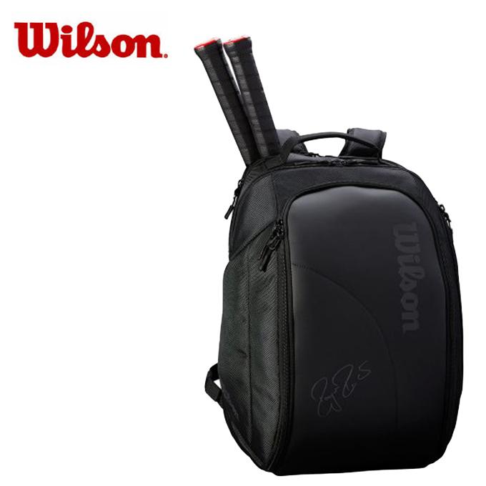 ウィルソン(Wilson) (ラケット2本収納可能) フェデラーDNA バックパック (FEDERER DNA BACKPACK BLACK) WRZ832896 ラケットバッグ リュック