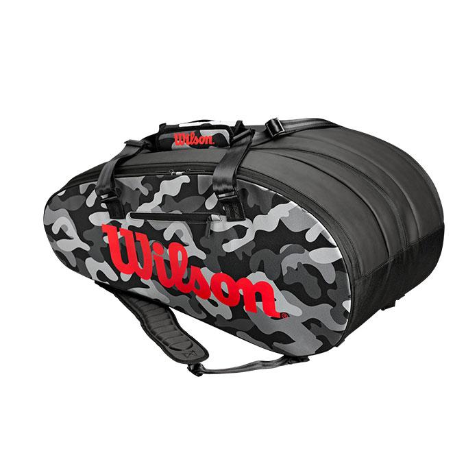 ウィルソン(Wilson) (ラケット15本収納) スーパーツアー 3PK カモ (SUPER TOUR 3PK CAMO) WRZ831814 テニス バドミントン ラケットバッグ 限定 カモ柄