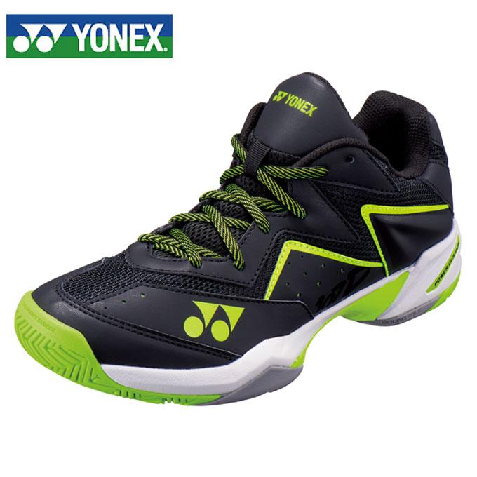ヨネックス(YONEX) パワークッション107D GC (POWER CUSHION 107D) SHT107D-400 ブラック/イエロー 2019年モデル テニスシューズ メンズ レディース オムニクレー