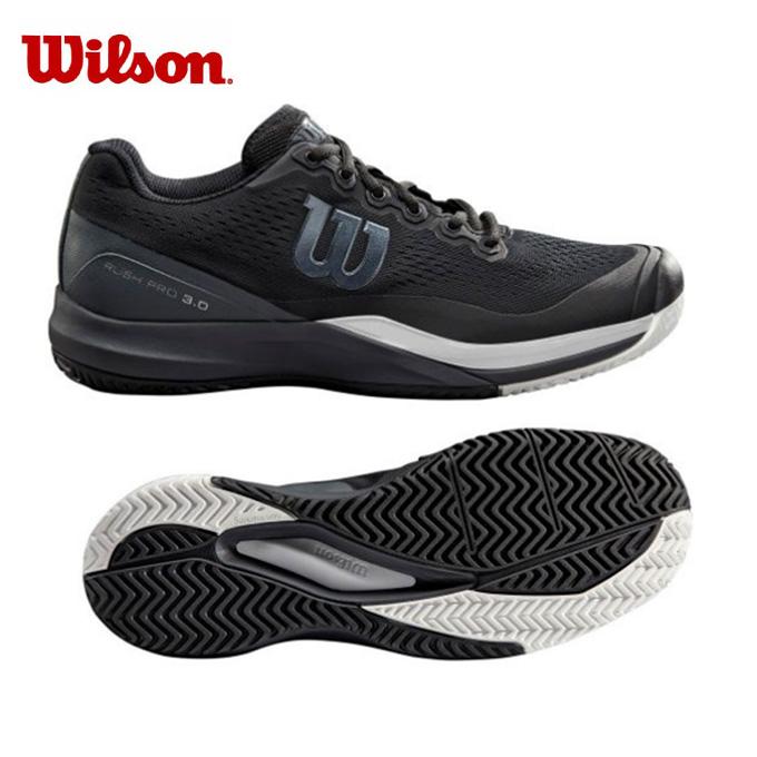 【10%OFFクーポン対象】 ウィルソン(Wilson) ラッシュプロ 3.0 AC (RUSH PRO 3.0 AC) WRS325530 ブラック×エボニー×ホワイト 2019年モデル テニスシューズ オールコート