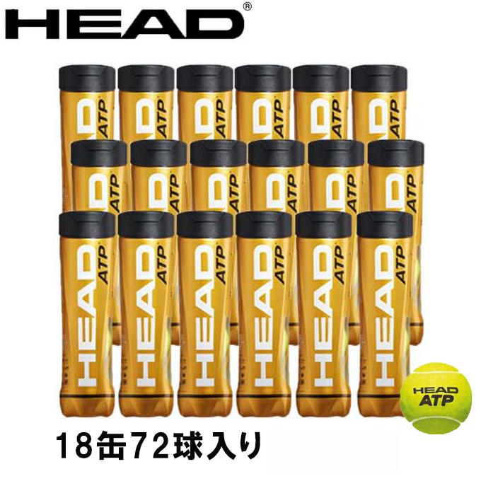 ヘッド(HEAD) ヘッド ATP 4球×18缶 (HEAD ATP) 570647 硬式テニスボール 国際テニス連盟公認球