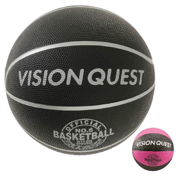 【購入後レビュー記入でクーポンプレゼント中】 バスケットボール 6号球 バスケゴムボール VQ6BAR 屋外用 ビジョンクエスト VISION QUEST