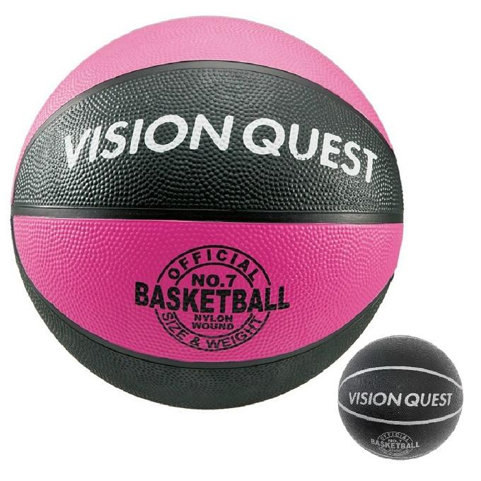 手数料無料 購入後レビュー記入でクーポンプレゼント中 受注生産品 バスケットボール 7号球 バスケゴムボール VQ7BAR QUEST VISION ビジョンクエスト 屋外用