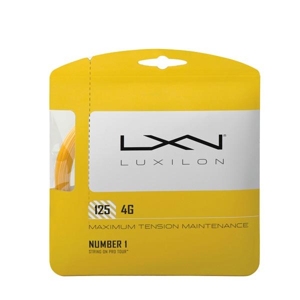 購入後レビュー記入でクーポンプレゼント中 ルキシロン 新作 大人気 テニスガット 硬式 単張り LUXILON WRZ997110 フォージー 返品送料無料 4G 125