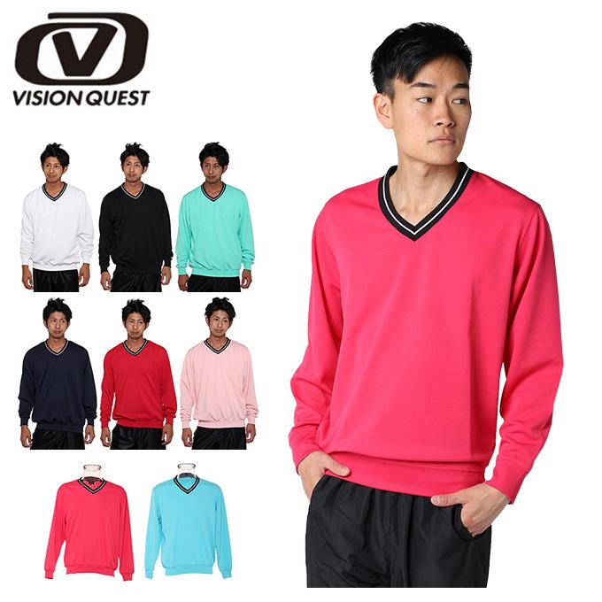 テニスウェア バドミントンウェア トレーナー メンズ Vトレーナー VQ530315D01 ビジョンクエスト VISION QUEST