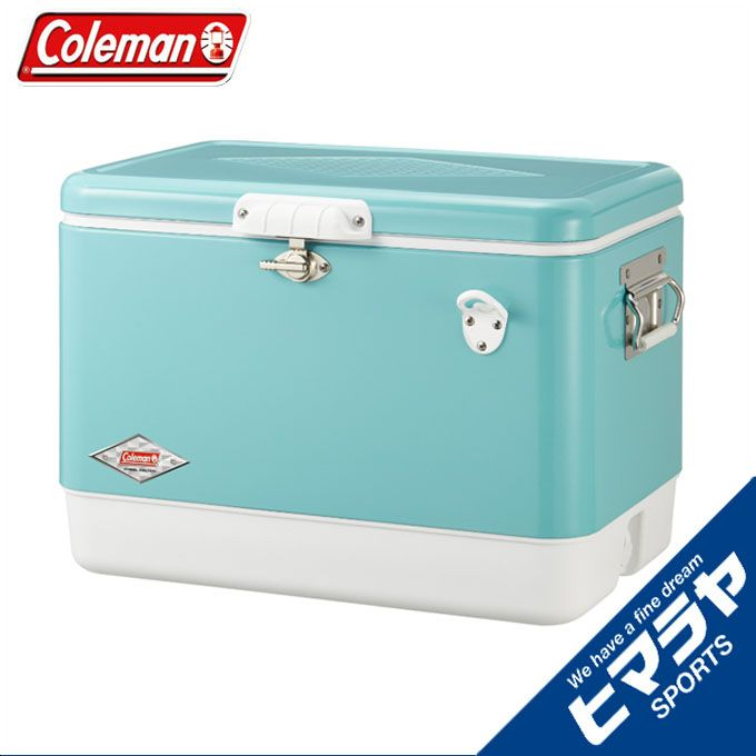 コールマン Colemanクーラーボックスハードクーラー54QTスチールベルト クーラー ターコイズ3000003739アウトドア キャンプ BBQ バーベキュー