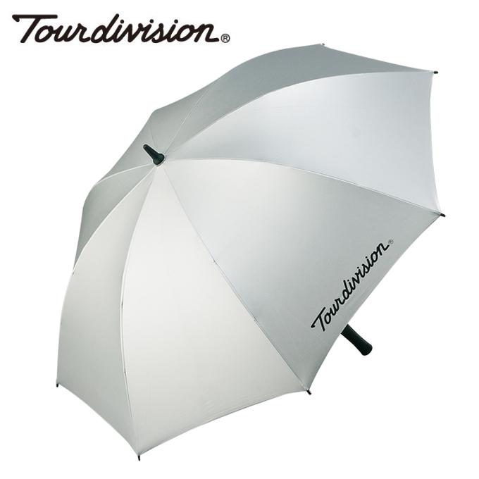 【購入後レビュー記入でクーポンプレゼント中】 ツアーディビジョン Tour division ゴルフ 傘 メンズ 晴雨兼用銀パラソル TD220510E03
