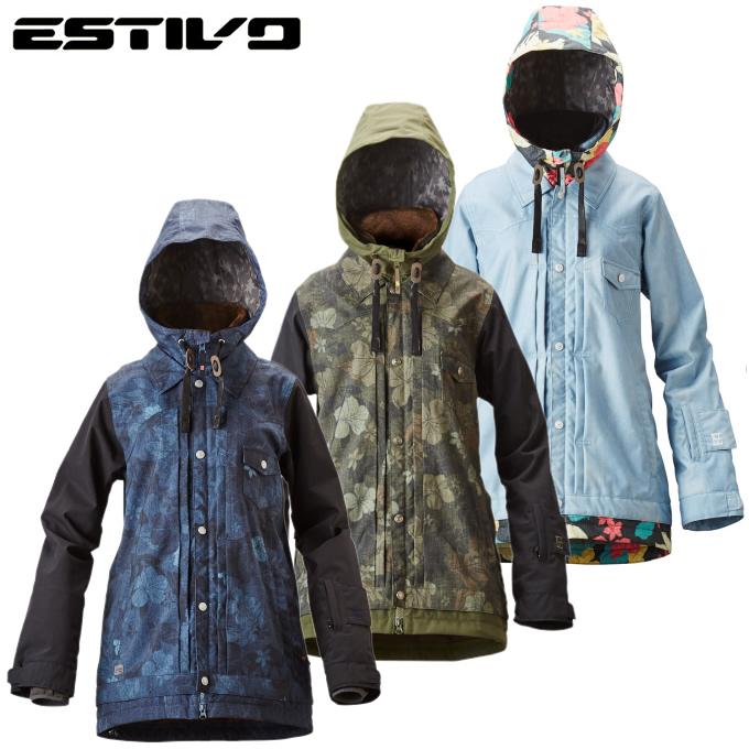 エスティボ ESTIVOスノーボードウェア ジャケット レディースEV SUNNY JKTEVW1524