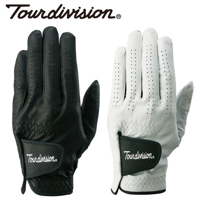 購入後レビュー記入でクーポンプレゼント中 ツアーディビジョン タイムセール Tour division 爆買い新作 ゴルフ メンズ 天然皮革グローブ 左手用 TD230401E03