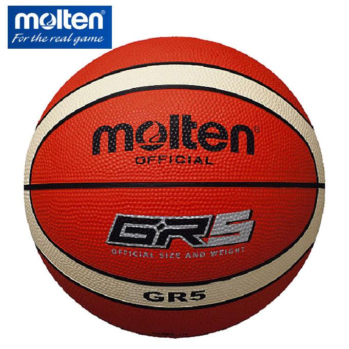 購入後レビュー記入でクーポンプレゼント中 モルテン バスケットボール 新品未使用 5号球 molten メーカー公式ショップ BGR5-OI 屋外用 GR5