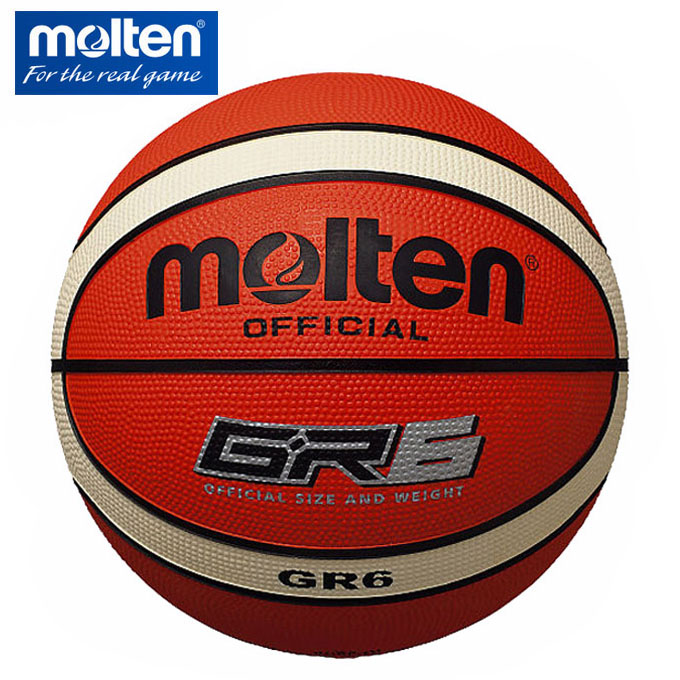 購入後レビュー記入でクーポンプレゼント中 モルテン バスケットボール 6号球 トラスト GR6 molten BGR6-OI 屋外用 モデル着用&注目アイテム