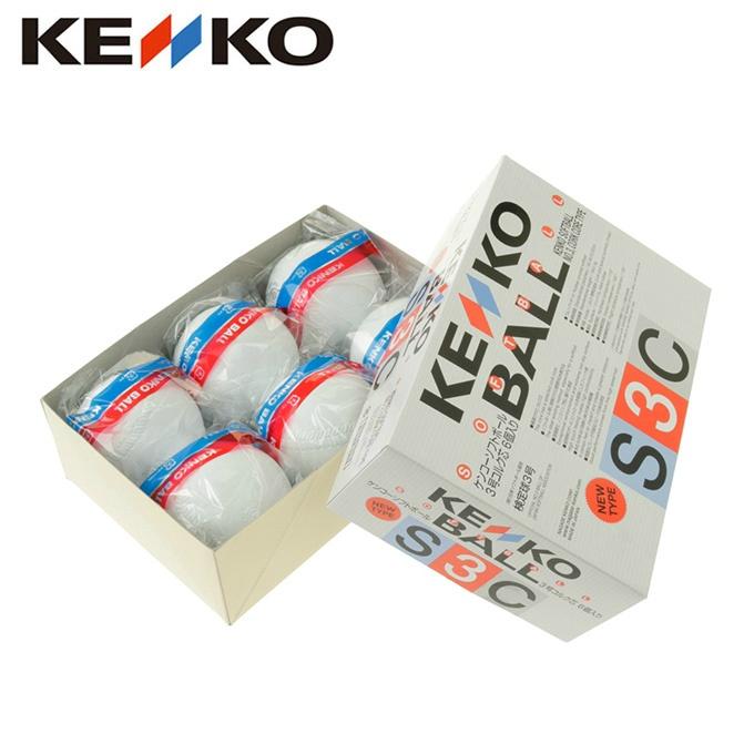 ケンコー KENKO ソフトボール ボール 3号 試合球 1ダース 6個入り ソフトボール 3号コルク芯 6個入り S3CP6NEW
