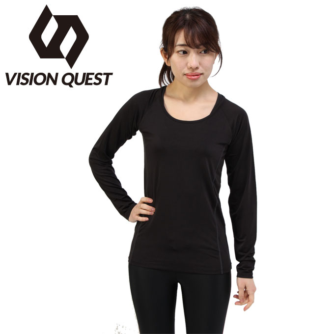 2020 新作 購入後レビュー記入でクーポンプレゼント中 ランニング レディース L Sインナーシャツ VQ561010G01 ビジョンクエスト QUEST 信託 VISION