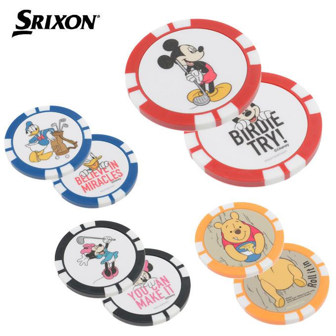 数量は多 購入後レビュー記入でクーポンプレゼント中 海外輸入 スリクソン SRIXON ゴルフ マーカー ディズニーチップマーカー GGF-07105