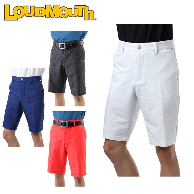 ラウドマウス LOUDMOUTH ゴルフウェア ショートパンツ メンズ エンボス二重織ショーツ 767-307