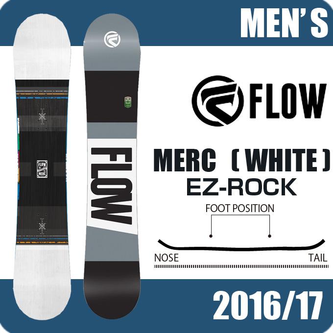 フロー FLOW スノーボード板 メンズ MERC WHITE