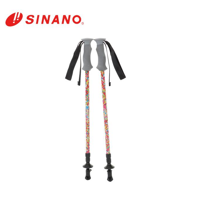 シナノ SINANO トレッキング ステッキ I字型 2本組 フォトチョイス 17S-30CAN