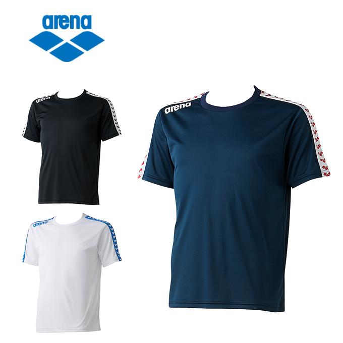 購入後レビュー記入でクーポンプレゼント中 アリーナ 新作からSALEアイテム等お得な商品満載 Tシャツ メンズ チームラインTシャツ arena レディース ARN-6331 お中元