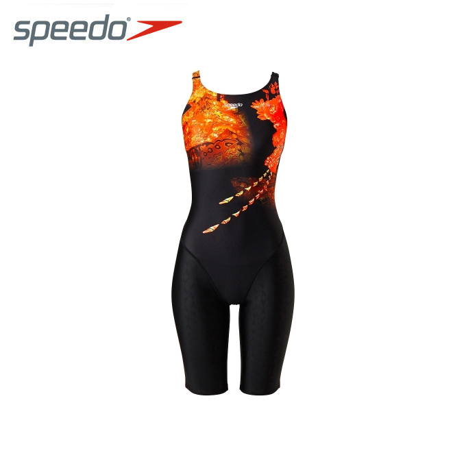 スピード FINA承認 競泳水着 ハーフスパッツ レディース FLEX Σ シグマ ウイメンズセミオープンバックニースキンVI 競泳用 オールインワン SD47H51 speedo