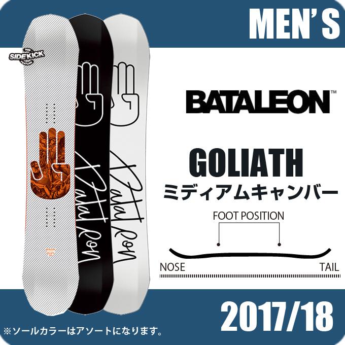 バタレオン BATALEON スノーボード 板 メンズ ゴリアス GOLIATH