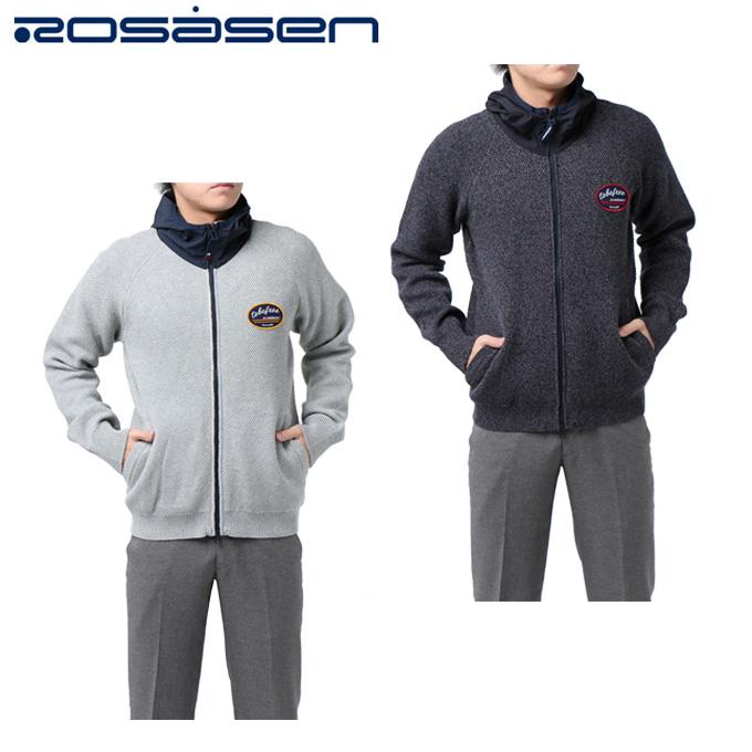 ロサーセン ROSASEN ゴルフウェア メンズ ニットフードブルゾン 044-56811